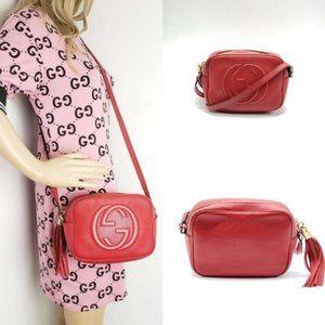 Gucci Disco Soho Camera Leather Crossbody Bag